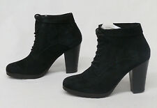 Nine West Women's Black Suede Lace Up Booties Ankle Boots Size 7