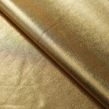 Gold Metallic Lame Nylon Spandex Lycra Fabric Foil 4-Way Stretch Chrome Wet