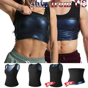 Women & Man Men Body Sweat Shaper Sauna Vest Slimming Gym Yoga Sport Thermal ZIP
