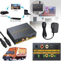 4Port Optical SPDIF Toslink Digital to Analog Converter L/R/RCA Audio Splitter