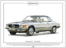 200 220 230 240 250 280 Mercedes Benz W114//W115 Stampa Artistica A3 Misura