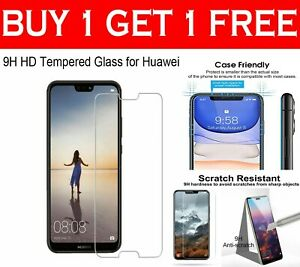 Gorilla Tempered Glass Shockproof Screen Protector Guard For Huawei Phones UK