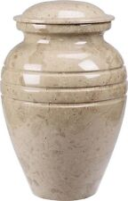 Cream Color, Child/Pet Funeral Cremation Urn made out of a block of Solid Marble