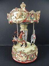 KARUSSELL Pferd groß  mit Spieluhr,Carrousel,Kirmes,Volksfest,Rummel,24 cm,NEU