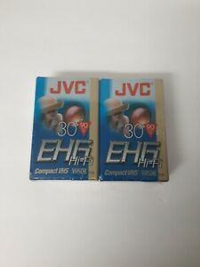 NEW 2 PACK JVC EHG Hi-Fi Compact VHS Camcorder Tape TC-30 SP 30 EP 90 Minutes