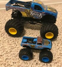 Hot Wheels Monster Jam Lot of 2 Big Kahuna trucks - 1:24, 1:64