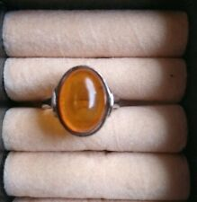 Stunning Large Vintage Past Times Amber Viking Ring in vgc approx size Q