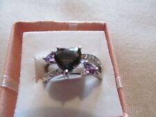 Not Enhanced Amethyst Sterling Silver Fine Rings