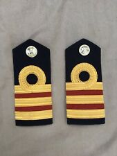 Original British Royal Navy Dental Officer Commander Shoulder Boards