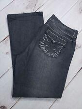 "NWT Womens Bubblegum BG Jeans Black/Gray Wash Size 20 Inseam 32"""
