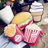Womens Popcorn Chips Hamburger Cupcake Shape Mini Shoulder Bag Messenger Handbag