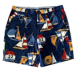 NEW, BROOKS BROTHERS SAILOR COTTON SHORTS, 40, $140