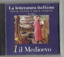 IL MEDIOEVO - LA LETTERATURA ITALIANA - STORIA, CRITICA E OPERE INTEGRALI CD-ROM