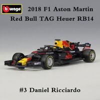 Scale 1:43 Diecast Model 2018 F1 Racing Cars Red Bull RB14 No.3 Daniel Ricciardo