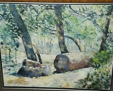 C.F. Bartlett Oil On Canvass Antique Painting From Wyes TV Auction Forest Senery