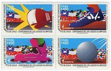 Chile 1996 #1823-1826 Centenario Comite Olimpico de Chile MNH