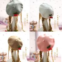 Kawaii Clothing Cute Harajuku Beret Hat Handmade Wool Blend Cherry Hats Beanies