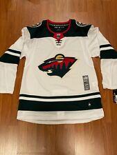Minnesota Wild Nwt Adidas Climalite Authentic Nhl Hockey Jersey Mens M 50 Fight