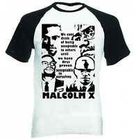 MALCOLM X BEING ACCEPTABLE QUOTE - NEW BLACK SLEEVED COTTON TSHIRT