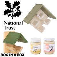National Trust Wild Bird Peanut Butter Feeder Wooden Garden Feeding Station