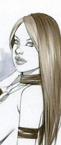 HOT SAVAGE ROGUE  SK#1376 FANTASY ORIGINAL PINUP GIRL ART by ALEX MIRANDA
