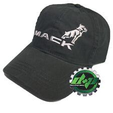 mack bulldog semi truck truckers hat base ball cap diesel gear black silver new