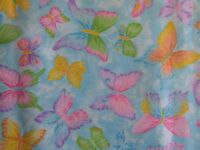 Glitter BUTTERFLIES  By Crafty Cottons-100% Cotton Fabric-by the YARD!