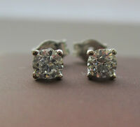 Brand New 0.40ct (2/5ct) Diamond 18ct White Gold Stud Earrings £300 Freepost
