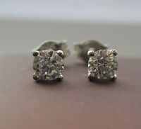 Brand New 1/4ct Diamond 9ct White Gold Stud Earrings £150 Freepost