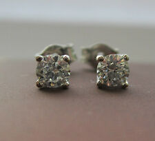 Brand New 1/5ct  Diamond 9ct White Gold Stud Earrings £135 Freepost