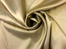 SPANDEX SATIN GOLD C6356 BRIDAL BRIDESMAID DRESSMAKING DECOR FABRIC FANCY DRESS