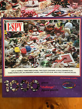 Vintage 1992 Ceaco I Spy Christmas Crafts 1000 Piece Challenge Jigsaw Puzzle