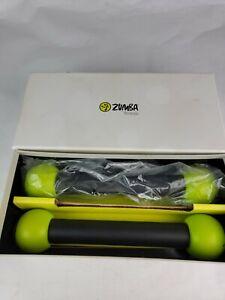 Zumba Toning Sticks Set of 2 Green Shaker Workout Weights 1 lb ea Gym Yoga Shake