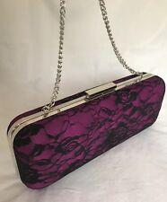 ghd Purple & Black Lace Clutch Bag  straightener holder /case in original box