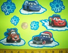 New! Cool! Disney Pixar's Cars Christmas IRON-ONS FABRIC APPLIQUES IRON-ONS