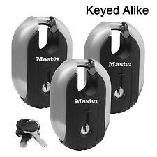 "Master Lock - (3) Titanium Trailer Door/Multi Purpose Padlocks 2-7/16"" 187KA-3"