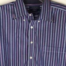 Charles Tyrwhitt Mens Blue Striped Long Sleeve Shirt Size XXL