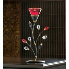 Ruby Red Blossom Tealight Candle Holder