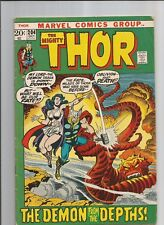 THE MIGHTY THOR #204  VG+  VERY GOOD+ WHITE PAGES MARVEL COMICS BRONZE AGE 1972