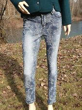 """LIVERPOOL JEANS S 28""""x28"""" TAG 2 / 26 PENNY ANKLE SKINNY FLORAL BLUE DENIM PANTS"""