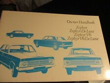 FORD ZEPHYR V6 DELUXE MK4 1967 HAND BOOK(mint condition)