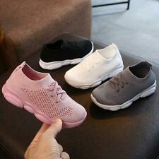 Kids Boys Girls Casual Trainers Toddler Knitting Children Shoes