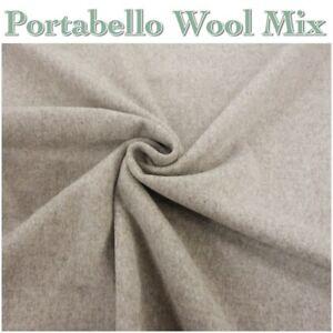 TG47 Portabello Colour 70% Wool Natural Warm Dressmaking Winter Coat Fabric