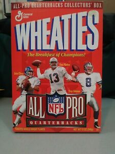 Wheaties 1996 NFL All-Pro QBs Collector's Box Troy Aikman John Elway Dan Marino