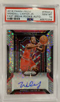ROOKIE! Wendell Carter Jr Panini Prizm Fast Break! (Auto/RC) PSA 10! POP13
