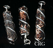 Garnet Point Pendant in Silver Plated Spiral (PP23DG)