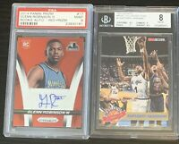 (16) Huge Graded Auto Relic Card Lot Garnett RC Pippen McGrady Webber HOF!