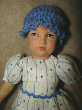 Antique 8� Oil Cloth Bing? repainted Doll. oh so sweet!