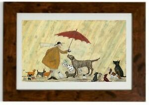 *LARGER SIZE* Cats & Dogs Framed print by Sam Toft