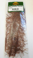"Mfc Rubber Hackle "" Tan/Brown "" Liquidation free shipping"